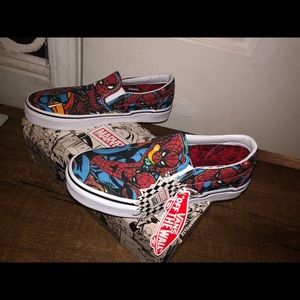 Vans x marvel, Limited addition Spider-Man slip on